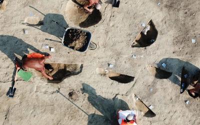 archäologische Ausgrabungen bei der Umfahrungsstraße A5 von Drasenhofen in Niederösterreich